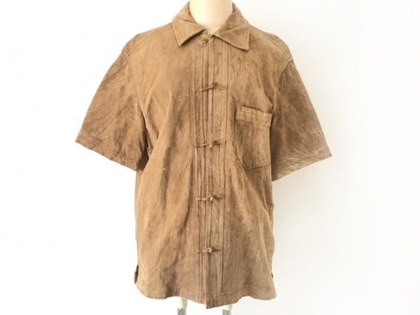 ポールスミスレッドイヤー 半袖シャツ サイズM メンズ ライトブラウン スエード