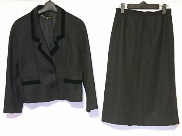 SOIR PERLE(ソワール ペルル) スカートスーツ サイズ11 M レディース 黒
