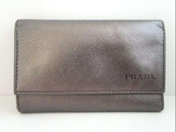 プラダ キーケース - グレー 6連フック