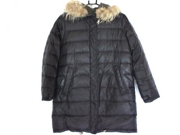 ラピスルーチェビームス ダウンコート サイズ36 S レディース 黒 冬物/リバーシブル
