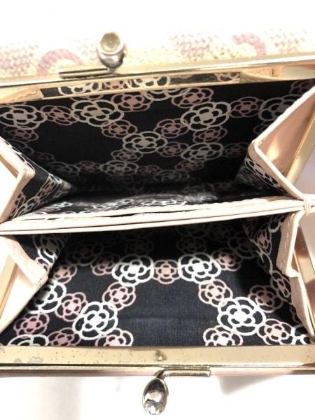 CLATHAS(クレイサス) 3つ折り財布 白×ピンク フラワー レザー 4