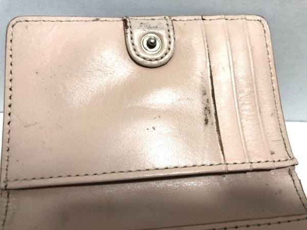 CLATHAS(クレイサス) 3つ折り財布 白×ピンク フラワー レザー 6