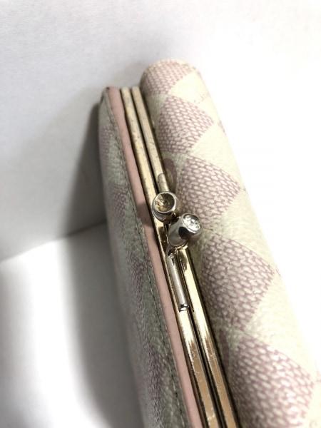CLATHAS(クレイサス) 3つ折り財布 白×ピンク フラワー レザー 7