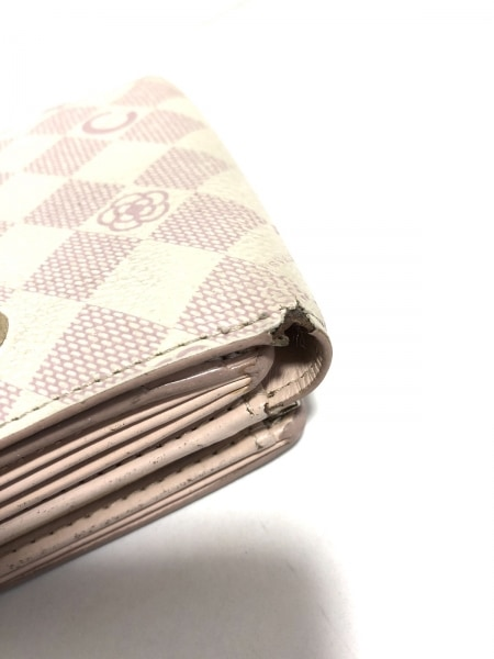 CLATHAS(クレイサス) 3つ折り財布 白×ピンク フラワー レザー 9