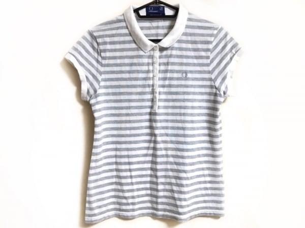 822b0951b56e78 フレッドペリー 半袖ポロシャツ サイズ42(EUR) レディース 白×グレー ボーダー