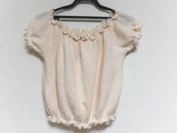 リルリリー 半袖セーター サイズF ベージュ