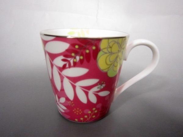 ナルミ マグカップ新品同様  花柄 陶器