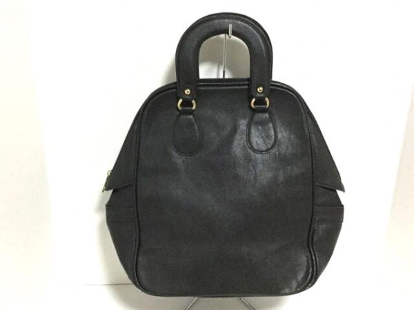 グースィー ハンドバッグ 黒 ポリウレタン