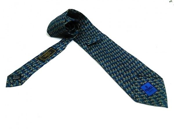 FENDI(フェンディ) ネクタイ メンズ ブルー×マルチ 2