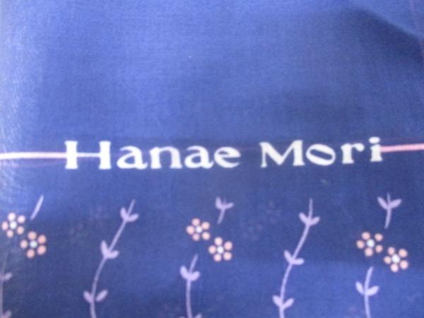 HANAE MORI(ハナエモリ) ハンカチ美品  ネイビー×マルチ 3