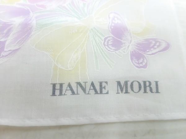 HANAE MORI(ハナエモリ) ハンカチ 白×パープル 3