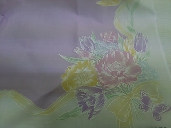 HANAE MORI(ハナエモリ) ハンカチ 白×パープル 4