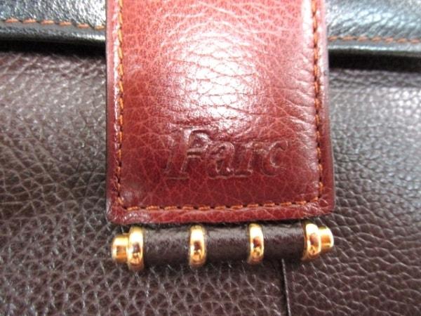 ノーブランド 3つ折り財布 ブラック×ブラウン 5
