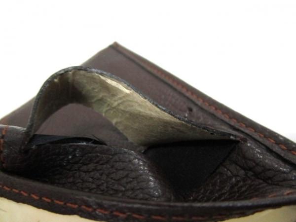 ノーブランド 3つ折り財布 ブラック×ブラウン 6