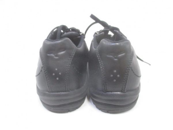 ノーブランド スニーカー 24.5 ユニセックス 黒 3