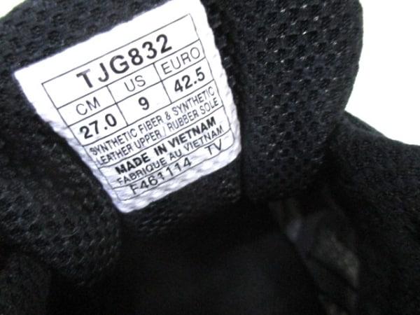 ノーブランド スニーカー メンズ 黒×マルチ 6