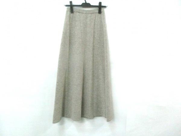 ノーブランド ロングスカート サイズ48B レディース ライトグレー 1