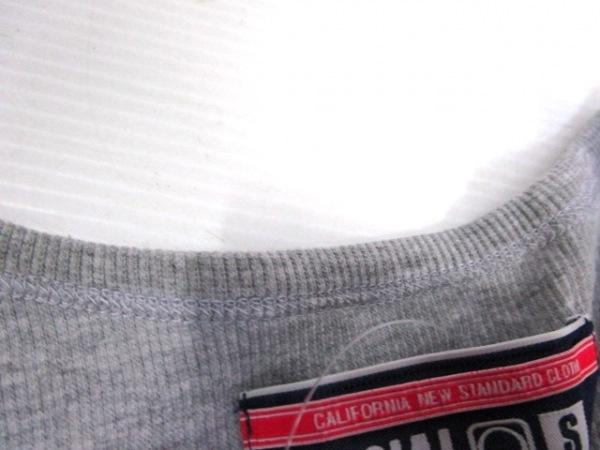 ノーブランド タンクトップ サイズS メンズ グレー×ホワイト 7