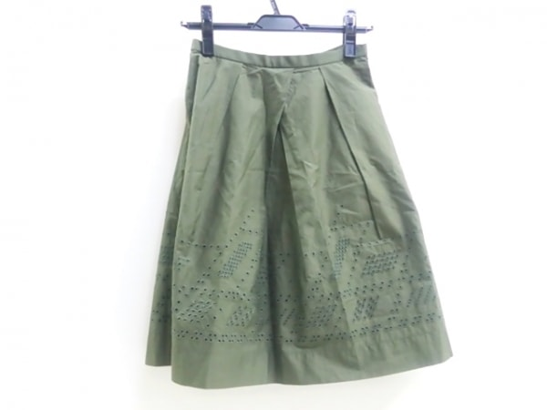UNTITLED(アンタイトル) スカート サイズ1 S レディース美品  カーキ 1