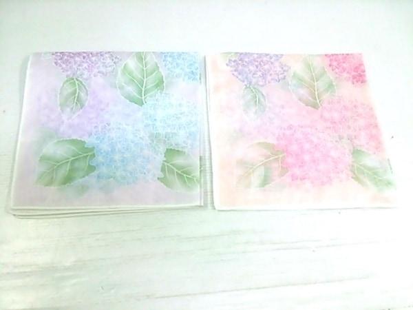 HANAE MORI(ハナエモリ) ハンカチ ピンク×ブルー 2枚組み 2