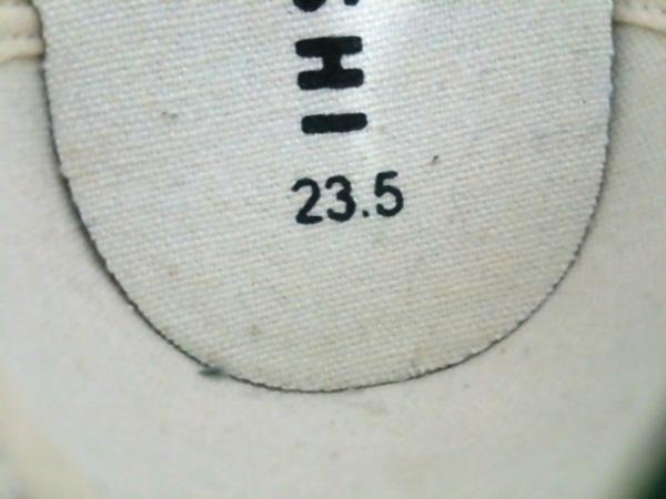 ノーブランド スニーカー 23.5 レディース グリーン×白 6