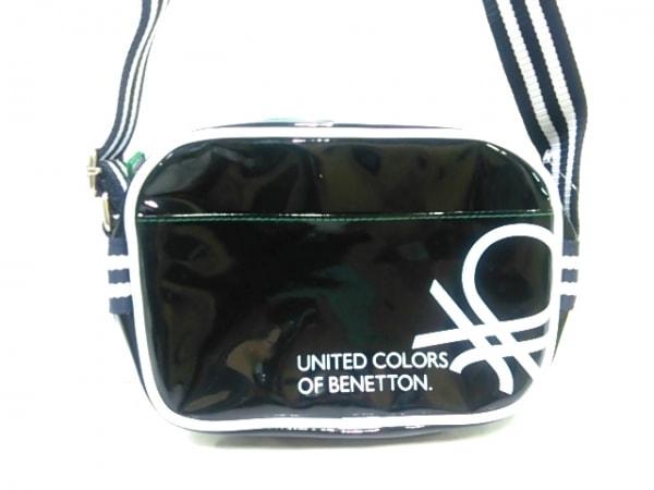 【中古】 ベネトン UNITED COLORS OF BENETTON ショルダーバッグ 黒 白