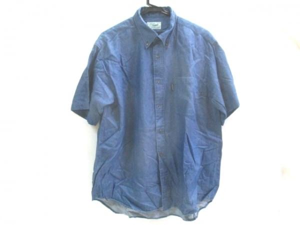 【中古】 クロコダイル CROCODILE 半袖シャツ サイズL メンズ ブルー