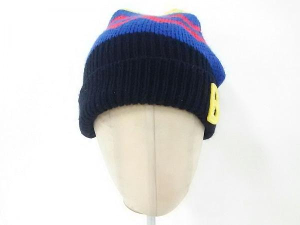 ビッツ ニット帽 52-54 ブルー×マルチ
