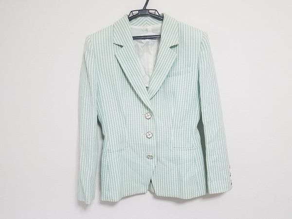 マドモアゼルディオール ジャケット サイズL レディース ライトグリーン×白