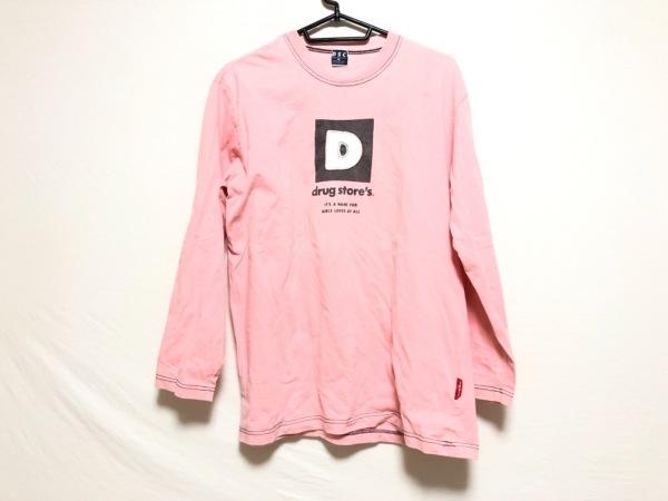 ドラッグストアーズ 長袖Tシャツ ピンク