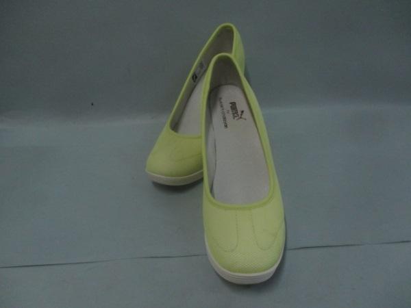 プーマアーバンモビリティフセインチャラヤン 靴 レディース ライム×白 化学繊維