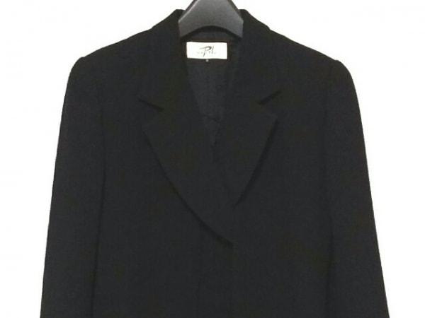 SOIR PERLE(ソワール ペルル) ワンピーススーツ サイズ9 M レディース 黒 肩パッド