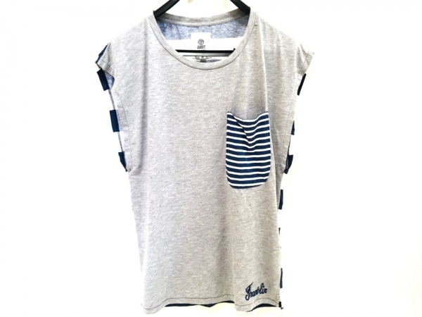 フランクリンアンドマーシャル ノースリーブTシャツ サイズXS レディース ボーダー