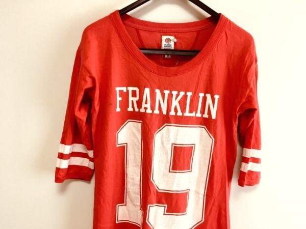 フランクリンアンドマーシャル 七分袖Tシャツ サイズXS レディース レッド ロング丈