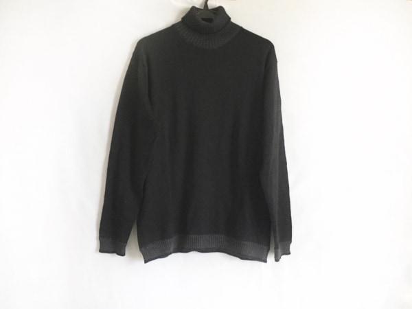 ヴェルサーチクラシック 長袖セーター サイズL レディース美品  黒×ダークグレー