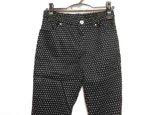 ヴィアファブリカ パンツ サイズS 黒×白