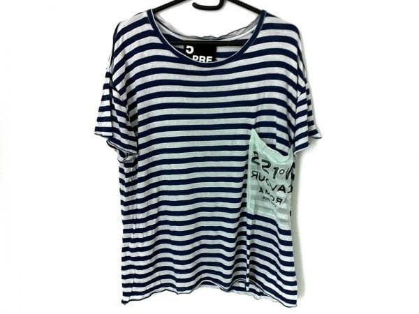 ファイブプレビュー 半袖Tシャツ サイズ0 XS レディース美品  ライトブルー×ネイビー