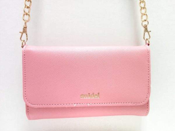 スナイデル バッグ美品  ピンク ミラーつき