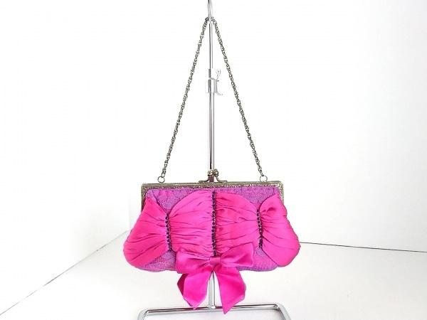 サンティ ハンドバッグ ピンク×パープル