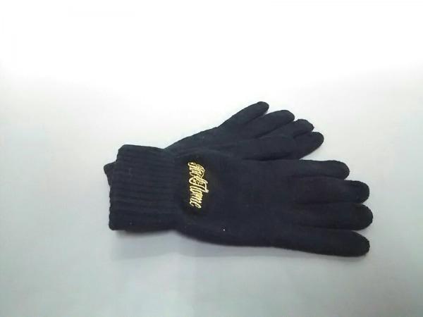 ブラック フレーム 手袋 メンズ美品  黒