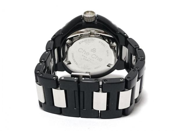 CheChe(チチ) 腕時計 CC671 レディース ラインストーン 白×ピンク×マルチ