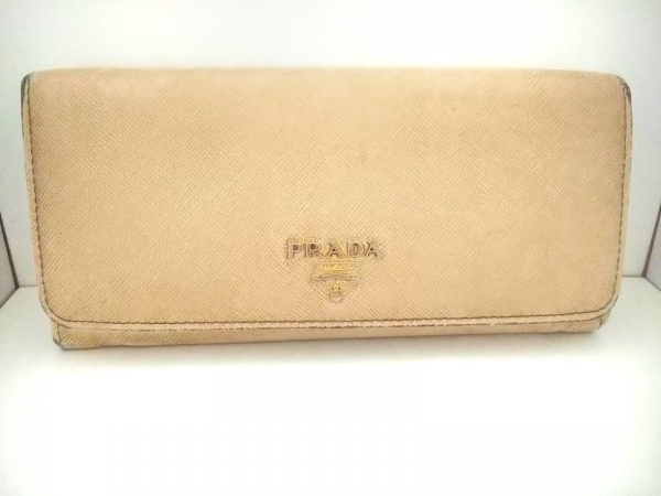 プラダ 長財布 - 1M1349 ゴールド レザー
