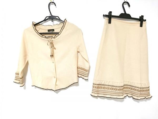 スコッチハウス スカートセットアップ サイズ38 M レディース 刺繍/リボン 毛