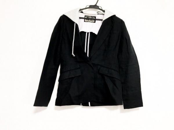 ジェームズコヴィエロ ジャケット サイズ1 S レディース美品  グレー コットン麻