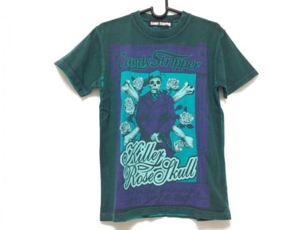 キャンディストリッパー 半袖Tシャツ サイズ2 M レディース ダークグリーン×グリーン