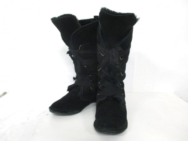 ベルフローリー ショートブーツ L 黒