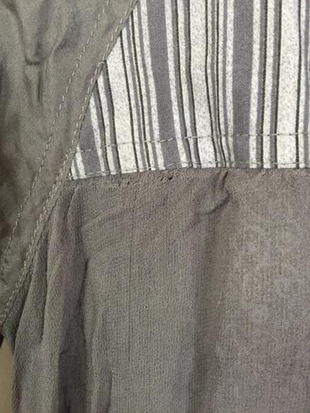 エリオットマン 半袖シャツブラウス サイズS レディース グレー×ダークグレー