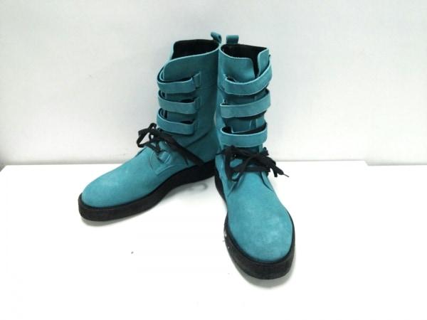 ミフネ ブーツ 3 メンズ ライトブルー