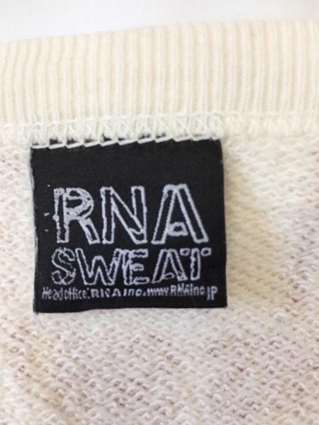 RNA SWEAT(アールエヌエースウェット) チュニック サイズM レディース アイボリー×赤