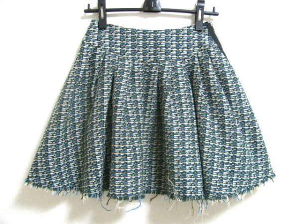 バンドオブアウトサイダーズ スカート サイズ0 XS レディース グリーン×白×マルチ